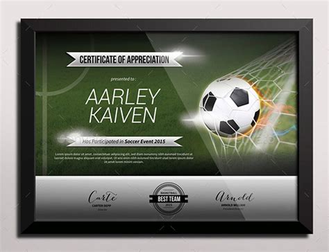 soccer certificates templates sports certificate templates free word pdf documents