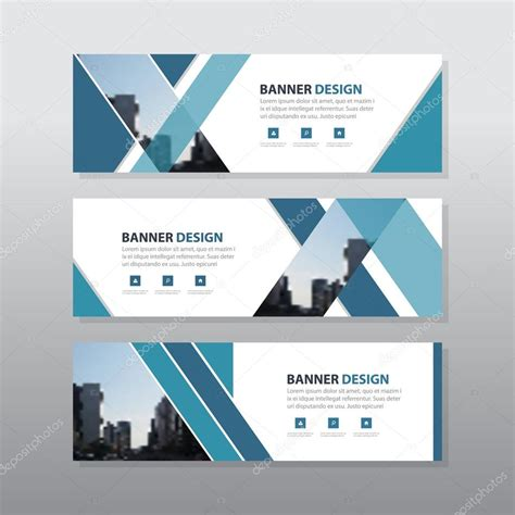 flat design header size blue triangle abstract corporate business banner template