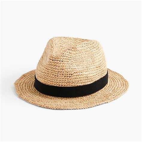 packable straw hat j crew