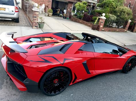 lamborghini aventador sv roadster red aventador sv roadster parked illegally in brooklyn 1920x1080 carporn