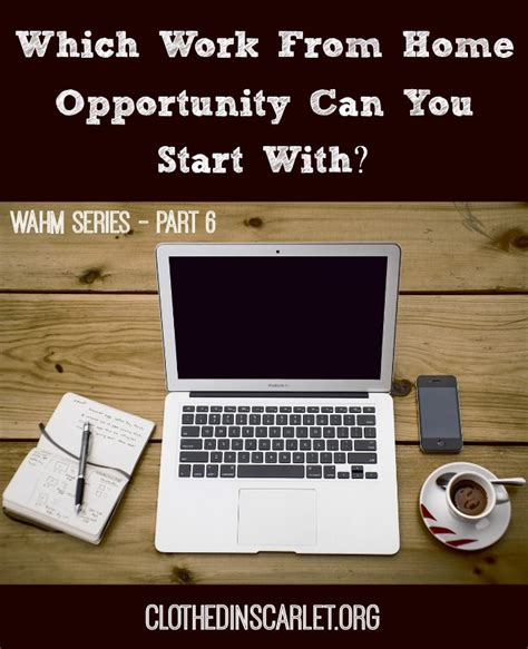 which work from home opportunity can you start with