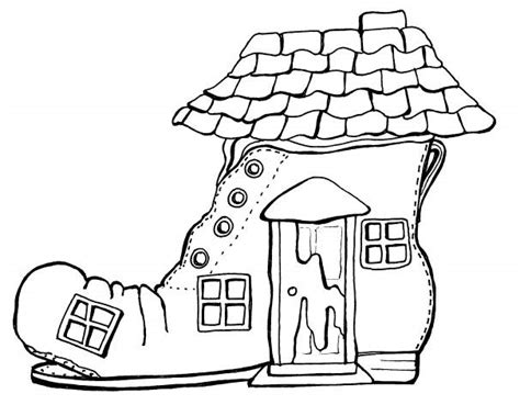 shoe house coloring pages short description of image