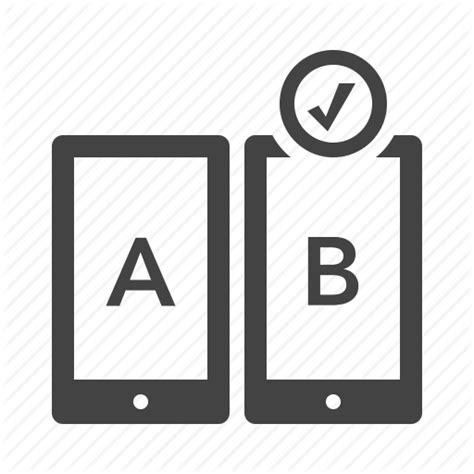 design usability icon ab testing compare feedback usability icon icon