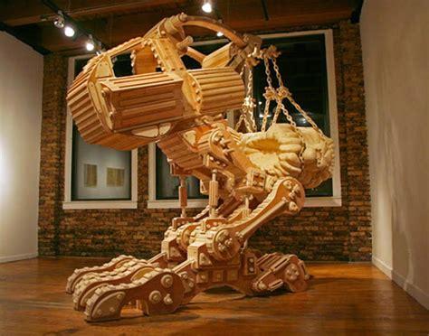world  technology  creative wooden sculptures