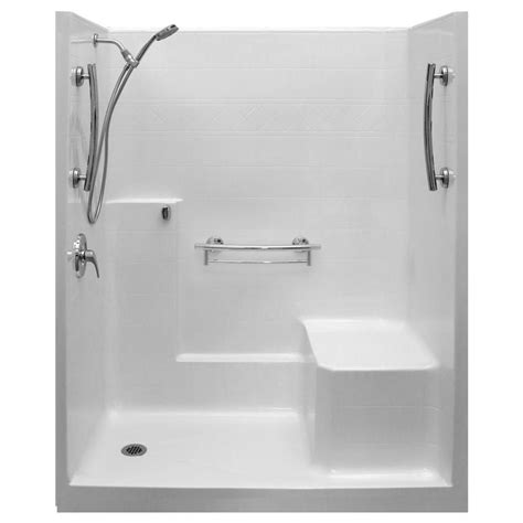 Left Drain Shower Kit by Ella Imperial Sa 36 In X 60 In X 77 In 1 Low