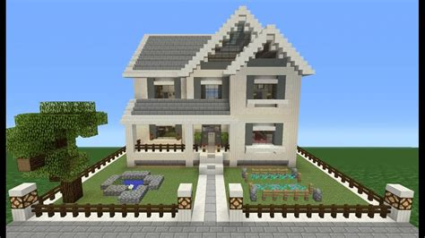 how to make a suburban house in minecraft minecraft tutorial how to make a suburban house 10 youtube