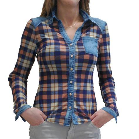 imagenes de blusas vaqueras camisa vaquera cuadros elegant isclaujeans