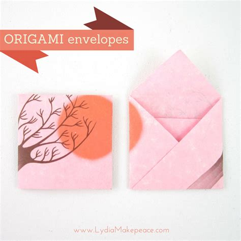 How To Fold A Of Paper Into An Envelope - easy square origami envelope artist lydia makepeace