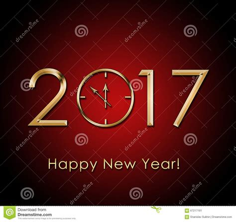new year background gold 2017 happy new year background with gold clock stock