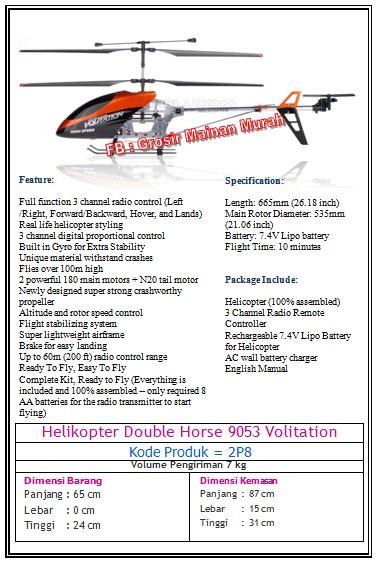 Harga Dinamo Helikopter Mainan by Helikopter 9053 Volitation The Shop