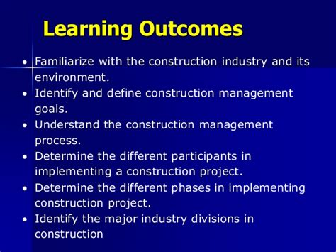 Mba In Infrastructure And Construction Management by Lecture 1 Overview Of The Construction Industry