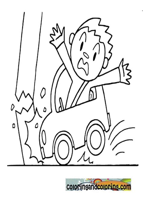 coloring page of car crash car accident coloring coloring and coloring car accident