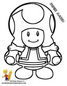 mushroom mario bros colouring pages