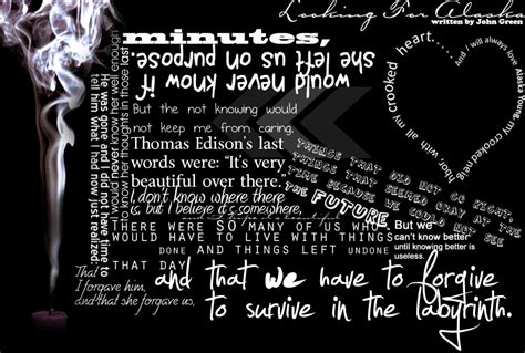 theme quotes from looking for alaska joe s blog looking for alaska