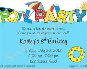 pool invitation pool birthday invitation swimming birthday invitation pool birthday