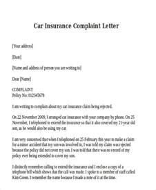 Letter For Vehicle Insurance Claim 27 Complaint Letter Formats Free Premium Templates