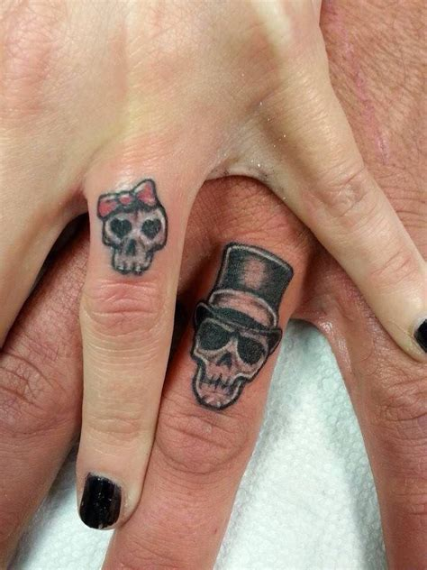 couple wedding ring tattoos best 25 wedding band ideas on wedding