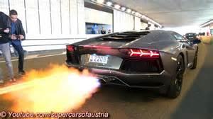 Lamborghini With Flames Lamborghini Aventador Shooting Flames