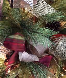 how to decorate with ribbon a tree tree and mantle with mesh ribbon trees