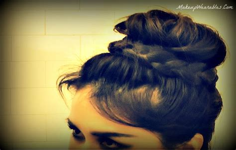 easy sock bun for medium hair 1000 images about hairstyle tutorials on