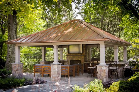 luxury backyard pavilion design ideas from lancaster