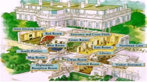 white house layout residence white house floor plan map youtube