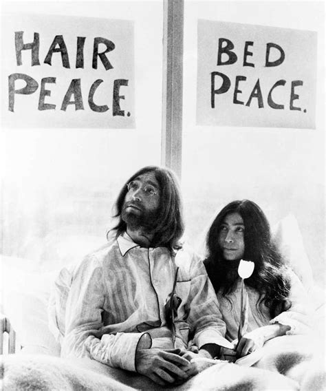 john lennon bed in john lennon echo tells his life in pictures on the 35th