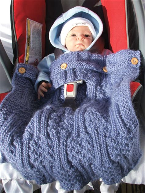 knitted car seat blanket pattern bulky take along covers