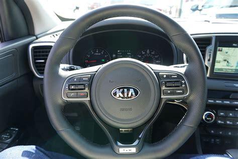 kia steering wheel 2017 kia sportage crossover suv first drive price