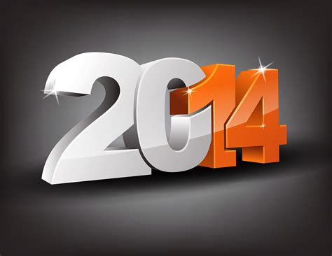 new year 2014 on a gray background wallpapers and images