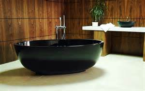 new compact black freestanding bathtub the petit by