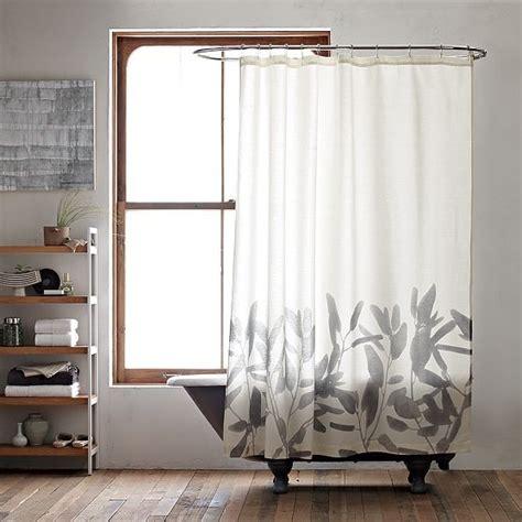 west elm shower curtains new bamboo flower shower curtain modern shower