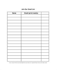 Email Sign Up Sheet Template sign up sheet 11 free pdf word documents