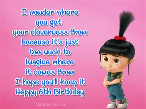 Birthday Quotes For 6 Year 6th Birthday Wishes And Quotes Cards Wishes