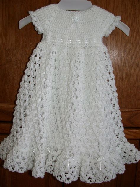 pattern crochet clothes crocheted baby blessing christening dress by babysewsoft