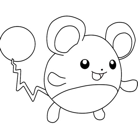 Coloriage Pokemon Marill Drawing For To Colour