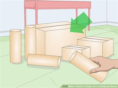 How To Make A Box Out Of Construction Paper - how to build a castle out of cardboard boxes with pictures