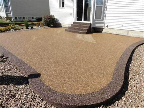 pebble epoxy patio overlay macomb and oakland county epoxy floor covering experts
