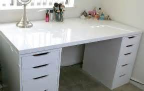 Ikea Alex Vanity Hack Ikea Makeup Vanity Desk Dressing Table Setup Ideas