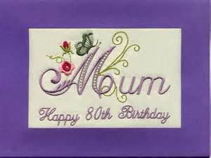 embroidered handmade personlised 80th birthday greeting cards butterflies ebay