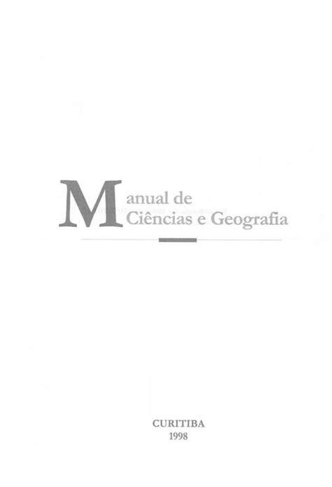 Manual de Ciencias e Geografia em Libras | Geografia