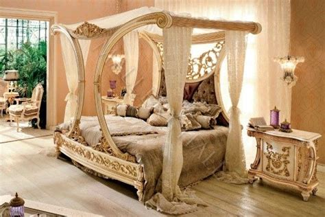 White Carved Bedroom Furniture by Beautiful Royal Golden Cleopatra Canopy Bed Carved