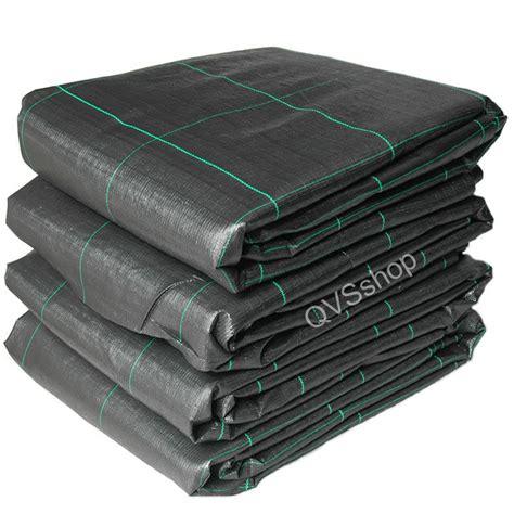 1m x 40m weed stop control fabric black heavy duty garden