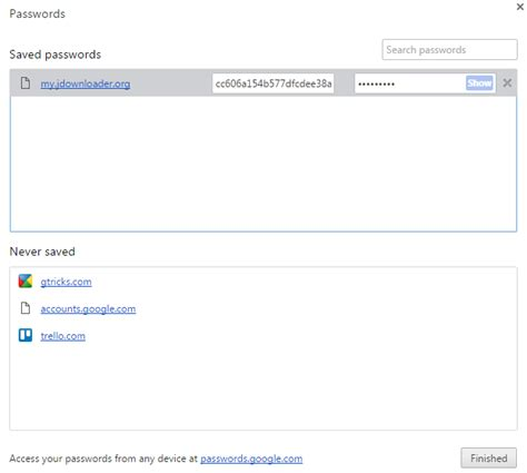 chrome password manager how to make chrome remember passwords
