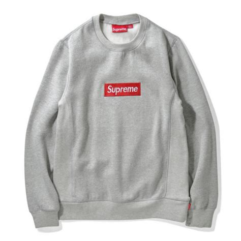 supreme box logo supreme box logo sweater gray
