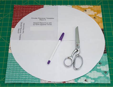 sewing pattern for quilted placemats sewing circular quilted placemats tutorial imagine gnats
