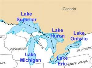 map of us with great lakes labeled united states geography lakes