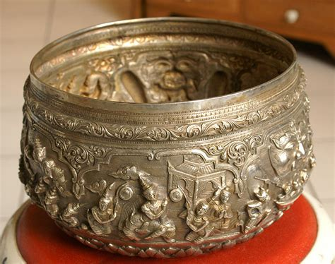 Height Of Design silver monk s begging bowl from mandalay burma