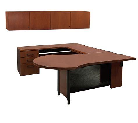 Haworth Desks by Haworth Used Left Return Veneer U Shape Desk Cherry