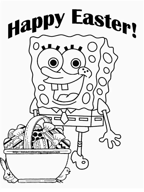 Spongebob Easter Coloring Page | spongebob easter coloring pages coloring home